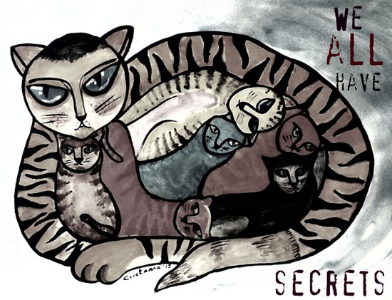 We all have secrets Art Print