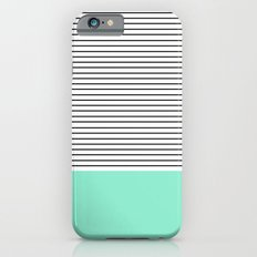 Minimal Mint Stripes iPhone 6 Slim Case