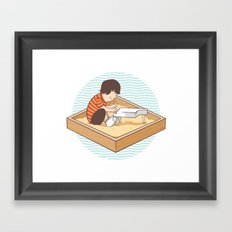 Brian's Sandbox Framed Art Print