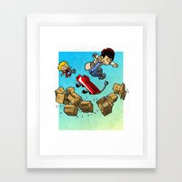 Hobbsky And Catch Framed Art Print