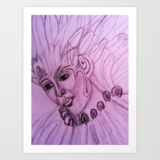 hand drawing by me Art Print