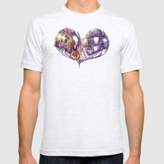 Daft Punk of Love Mens Fitted Tee Ash Grey SMALL