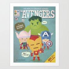 avengers fan art Art Print