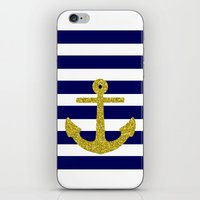 Gold Anchor iPhone & iPod Skin