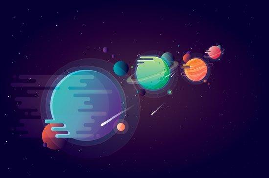 Alien Planets Art Print