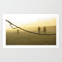 Dancing On A Tightrope Art Print