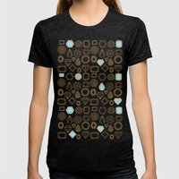Gems #3 Womens Fitted Tee Tri-Black SMALL
