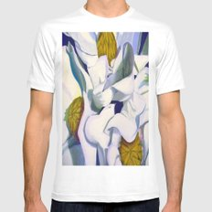 Magnificent Magnolias SMALL White Mens Fitted Tee