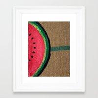 Watermelon Framed Art Print