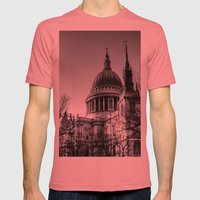 St Pauls, London Mens Fitted Tee Pomegranate SMALL