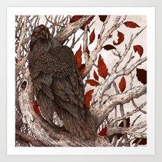 Three Eyed Raven Art Print