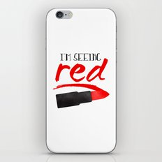 I'm Seeing Red iPhone & iPod Skin