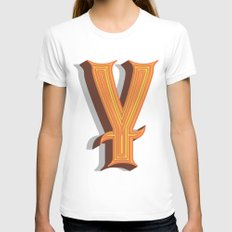 Letter Y Womens Fitted Tee White SMALL