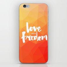 Love Your Freedom iPhone & iPod Skin