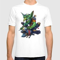 Goblin Rider Mens Fitted Tee White SMALL