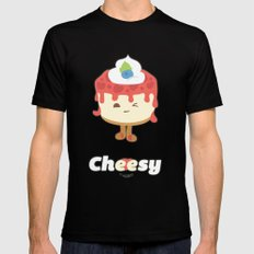 Cheese Cake SMALL Black Mens Fitted Tee