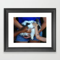 Feel The Fuzzy Framed Art Print