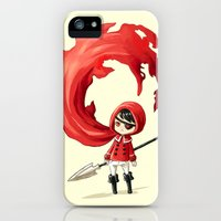 iPhone 5s & iPhone 5 Cases featuring Red Cape by Freeminds