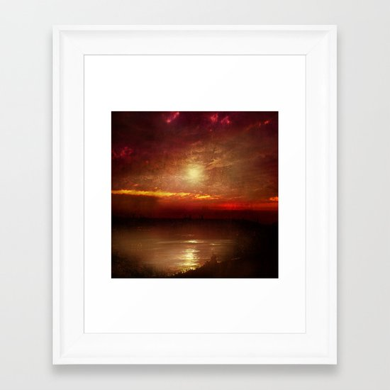 Music from the sun Framed Art Print