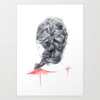 french Art Prints featuring FRENCH  by FunnyTummy