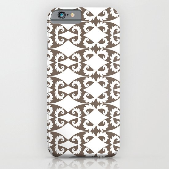 Brown Saw Pattern iPhone & iPod Case