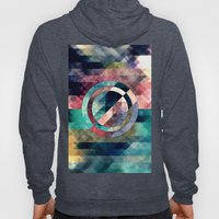 Colorful Grunge Geometric Abstract Hoody