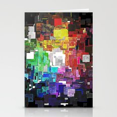Spectral Geometric Abstract Stationery Cards