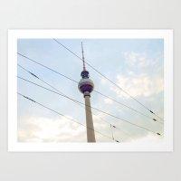 Berliner Fernsehturm Art Print