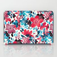 Happy Red Flower Collage iPad Case