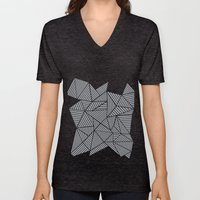 Abstract Mountain Grey Unisex V-Neck