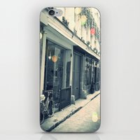 Bicycle and cobblestone iPhone & iPod Skin