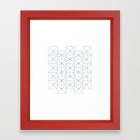 #374 Constructivist's wallpaper – Geometry Daily Framed Art Print