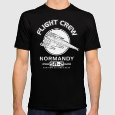 Normandy Flight Crew Black Mens Fitted Tee SMALL
