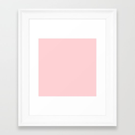 Blushing Red Framed Art Print