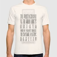 To photograph... Mens Fitted Tee Natural SMALL