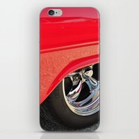 Red And Chrome iPhone & iPod Skin