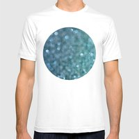 Denim Sparkle Mens Fitted Tee White SMALL