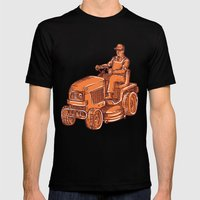 Gardener Ride-On Mower E… Mens Fitted Tee Black SMALL