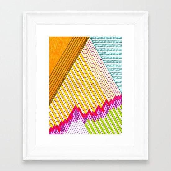 Isometric Harlequin #6 Framed Art Print