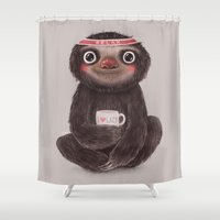 Sloth I♥lazy Shower Curtain