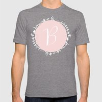 Garland Initial B - Pink Mens Fitted Tee Tri-Grey SMALL