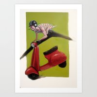 MOTO Art Print