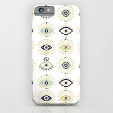 Evil Eye Collection on White Slim Case iPhone 6s