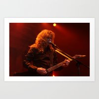 Megadeth Live At The Sta… Art Print