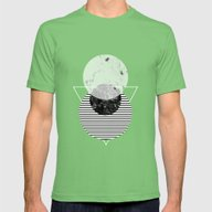 Minimalism 9 Mens Fitted Tee Grass SMALL