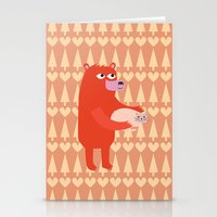 Bear And Cat BFF Stationery Cards