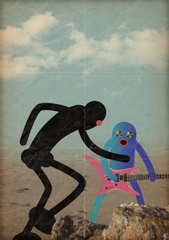 lotta per la musica Art Print