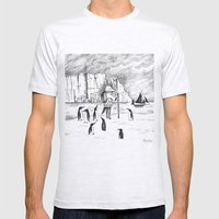 Antarctic Explorer Mens Fitted Tee Ash Grey SMALL
