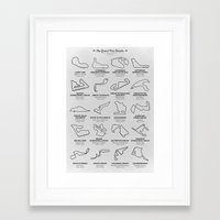 The Grand Prix Circuits Framed Art Print