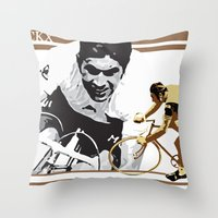 Cycling Legend Eddy 'The… Throw Pillow